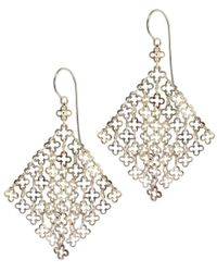 Dinny Hall | Metallic Statement Silver Talitha Drop Earrings | Lyst