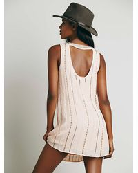 Free People - Pink Carmens Embellished Shift - Lyst