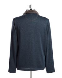 Weatherproof | Blue Sherpa-collared Sweater for Men | Lyst