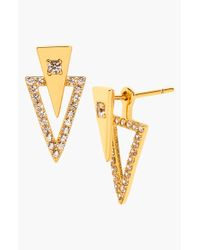 Gorjana | Metallic 'shimmer' Triangle Double Stud Earrings | Lyst