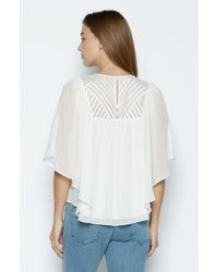 Joie | White Patel Silk Top | Lyst