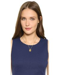 "kate spade new york - Metallic Clover ""one In A Million"" Charm Necklace - Gold Multi - Lyst"