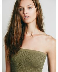 Free People | Green Honey Textured Tube | Lyst
