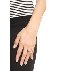 Elizabeth and James - Metallic Judd Ring - Gold - Lyst