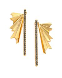 Giles & Brother | Metallic Ray Burst Pave Crystal Ear Jacket & Drop Earrings Set | Lyst