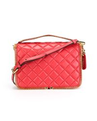 Moschino - Red Zipped Trim Tote - Lyst