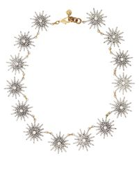 Lulu Frost | Metallic Silver-tone Crystal Radiant Necklace | Lyst