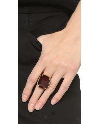 Erickson Beamon | Metallic Cocktail Ring - Ruby | Lyst