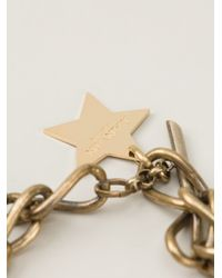 Lanvin - Metallic Chunky Chain Star Necklace - Lyst