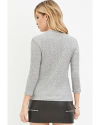 Forever 21 | Gray Ribbed Knit Top You've Been Added To The Waitlist | Lyst