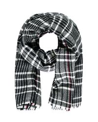 Forever 21 - Black Frayed-hem Plaid Scarf - Lyst