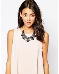 Oasis | Black Lace Collar Necklace | Lyst
