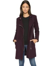 BB Dakota | Purple Grayson Coat - Aubergine | Lyst