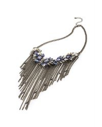 Forever 21 | Metallic Layered Feather Necklace | Lyst