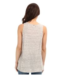 Calvin Klein Jeans - Natural Exposed Seam Tank - Lyst