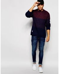 Native Youth - Blue Cut And Sew Gradient Knit Jumper for Men - Lyst