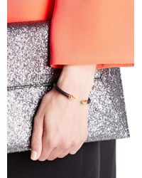 Vita Fede - Black Mini Titan Rose Gold-plated Twin Spike Bracelet - Lyst