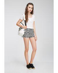 Forever 21 - Black Daisy Print Shorts - Lyst