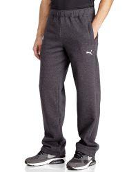 PUMA | Gray Drawstring Fleece Sweatpants for Men | Lyst