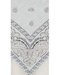 Roarke - Metallic Bandana Beaded Fringe Necklace - Silver/white - Lyst