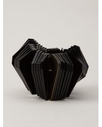Sarah Angold Studio - Black Threedimensional Bangle - Lyst