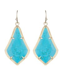 Kendra Scott | Blue Alex Earrings | Lyst