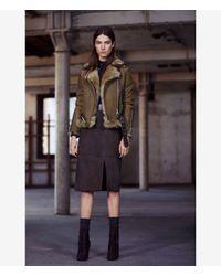 AllSaints | Brown Emerson Leather Biker Jacket | Lyst