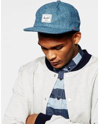 Herschel Supply Co. - Blue Albert Cap for Men - Lyst