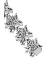 Ben-Amun - Metallic Silver-Plated Swarovski Crystal Bracelet - Lyst