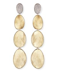 Marco Bicego | Metallic Diamond Lunaria 18k Gold Drop Earrings | Lyst