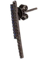 Asherali Knopfer - Diamond And Blue Sapphire Bar Earring - Lyst