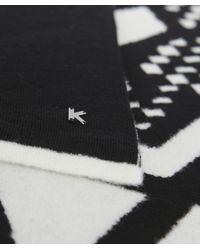 KENZO | Black Artwork Print Stole | Lyst