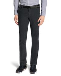 BOSS - Gray 'rice-d' | Slim Fit, Stretch Corduroy Trousers for Men - Lyst