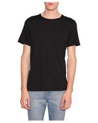 FRAME - Black Cotton T-shirt for Men - Lyst