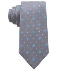 Michael Kors - Blue Michael Multi Box Cube Slim Tie for Men - Lyst