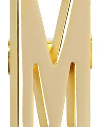 Moschino - Metallic + V&A Set Of Two Gold-Plated Knuckle Rings - Lyst