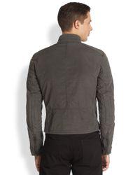 Ralph Lauren Black Label - Gray Boardtrack Racer Jacket for Men - Lyst