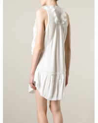 Isabel Marant - White 'Rafael' Dress - Lyst