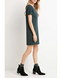 Forever 21 | Green Micro-striped T-shirt Dress You've Been Added To The Waitlist | Lyst