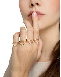 Pixie Market - Metallic Minimal Geometric Ring Set - Lyst