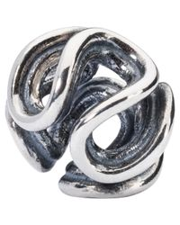 Trollbeads | Metallic Sterling Silver Path Of Life Bead | Lyst