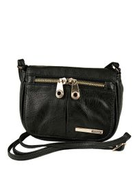 Kenneth Cole Reaction - Black Wooster Street Faux Leather Small Flap Crossbody Bag - Lyst