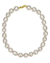 Majorica | Organic Manmade White Baroque Pearl | Lyst