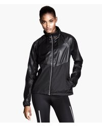 H&M - Black Running Jacket - Lyst