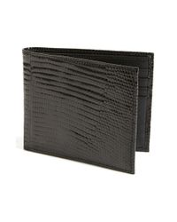 Boconi - Black Lizard Wallet for Men - Lyst