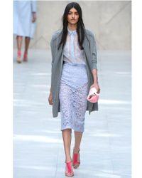 Burberry Prorsum - Purple Cotton Victorian Lace Skirt - Lyst