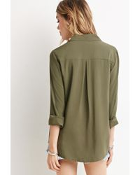 Forever 21 | Green Classic Collared Shirt | Lyst