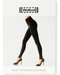 Wolford | Black Velvet Sensation Leggings | Lyst