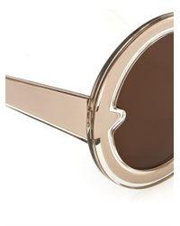 Karen Walker - Metallic Orbit Round-Framed Sunglasses - Lyst