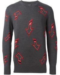Paul Smith - Gray Arrow Motif Sweater for Men - Lyst